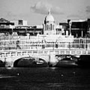 River Liffey Dublin City Center Poster by Joe Fox