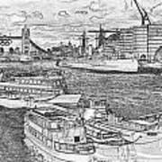 River Thames Art Poster