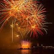 River Thames Fireworks Poster