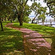 River Walk On The Indian River Lagoon Poster