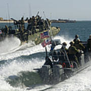 Riverine Command Boats And Security Poster