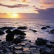 Rocks On The Beach, Giants Causeway Poster