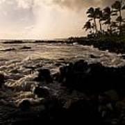 Rocky Coastline, Poipu, Kauai, Hawaii Poster