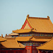 Roof Of Forbidden City Poster
