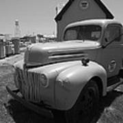 Route 66 Truck And Gas Station Poster