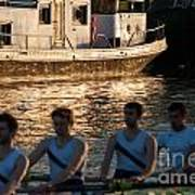 Rowers At Sunset Poster
