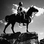 Royal Scots Greys Boer War Monument In Princes Street Gardens Edinburgh Scotland Uk United Kingdom Poster