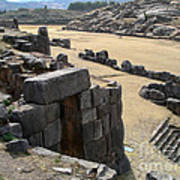 Sacsayhuaman Ruins In Cusco Poster
