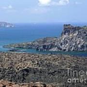 Santorini Volcano Poster