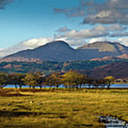 Scottish Landscape View Poster