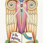 Scroll Angel - Ionica Poster by Amy S Turner