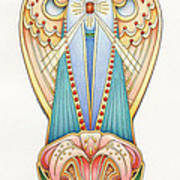 Scroll Angels - Lillium Poster by Amy S Turner