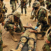 Seabees Conduct A Mass Casualty Drill Poster