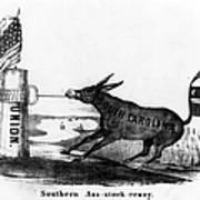 Secession Cartoon, 1861 Poster