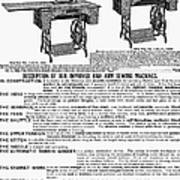 Sewing Machine Ad, 1895 Poster