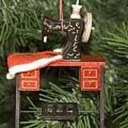 Sewing Machine Ornament Poster