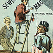 Sewing Machine Trade Card Poster by Granger