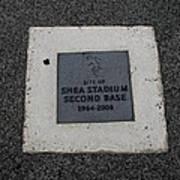 Shea Stadium Second Base Poster