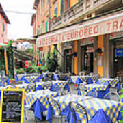 Sidewalk Cafe In Italy Poster