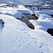 Snowy Landscape, Scotland Poster
