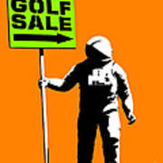 Space Golf Sale Poster