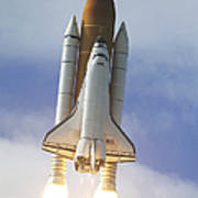 Space Shuttle Atlantis Lifts Poster