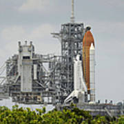 Space Shuttle Endeavour On The Launch Poster