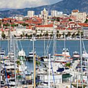 Split Cityscape Poster