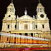 St. Paul's Cathedral In London At Night Poster