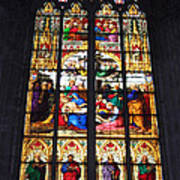 Stained Glass Window Poster by Suhas Tavkar