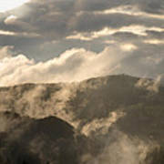 Storm Clouds Gather Over Mountains Poster