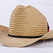 Straw Weave Cowboy Hat Poster