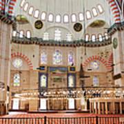 Suleymaniye Mosque Interior Poster