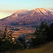Sun Going Down At Mt. St. Helens Poster