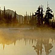 Sunlight On An Alpine Lake Poster