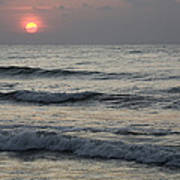 Sunrise Over Arabian Sea Hawf Protected Poster