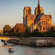 Sunrise Over Notre Dame Poster