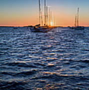 Sunset Moorings Chausey Poster