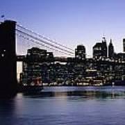 Sunset Over Lower Manhattan Poster