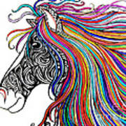 Tattooed Horse Poster