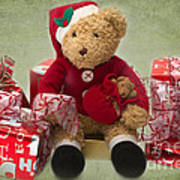 Teddy At Christmas Poster