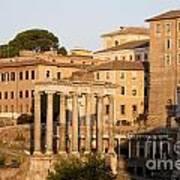 Temple Of Saturn In The Forum Romanum. Rome Poster