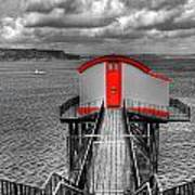 Tenby Lifeboat House Colour Pop Poster
