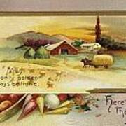 Thanksgiving Card, C1910 Poster