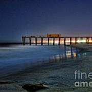 The Fishing Pier Poster by Paul Ward