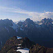 The Jagged Tops Of High Mountain Peaks Poster
