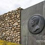 The John F. Kennedy Memorial At Veterans Memorial Park In Hyanni Poster