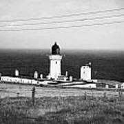 The Lighthouse At Dunnet Head Most Northerly Point Of Mainland Britain Scotland  Poster