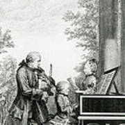 The Mozart Family On Tour, 1763 Poster