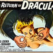 The Return Of Dracula, Francis Lederer Poster by Everett